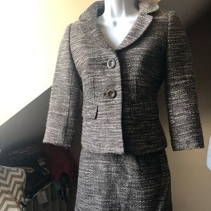 Brown / Gray Tweed Ann Taylor suit